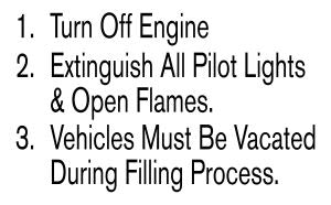 "MOTOR FUEL FILLING PROCEDURES DECAL(6.5"" x 10.5"")"