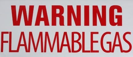 WARNING: FLAMMABLE GAS DECAL