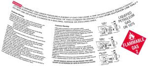 2-in-1 CYLINDER WARNING LABEL (50/PKG)