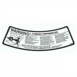 NEW CYLINDER WARNING LABEL (100 CT)