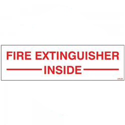 FIRE EXTINGUISHER INSIDE DECAL
