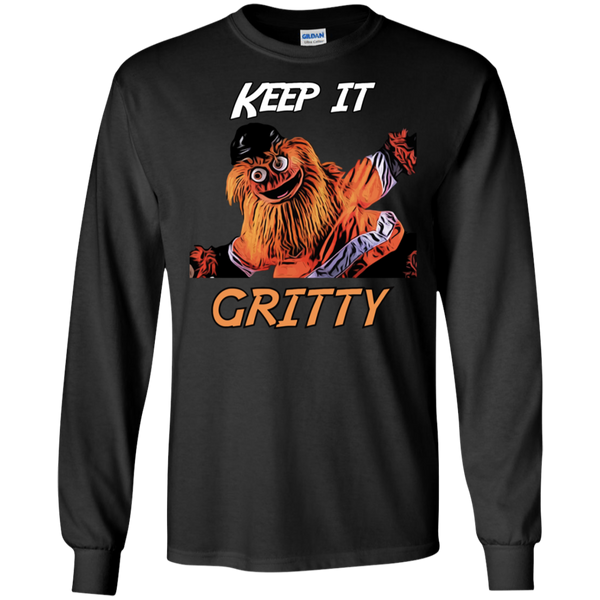 Keep It Gritty Philadelphia Flyers Mascot Long Sleeve Shirt