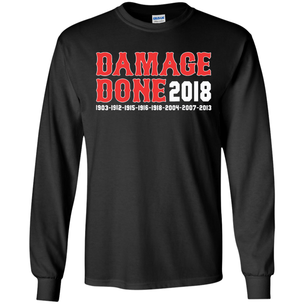 Damage Done Red Sox Long Sleeve Shirt