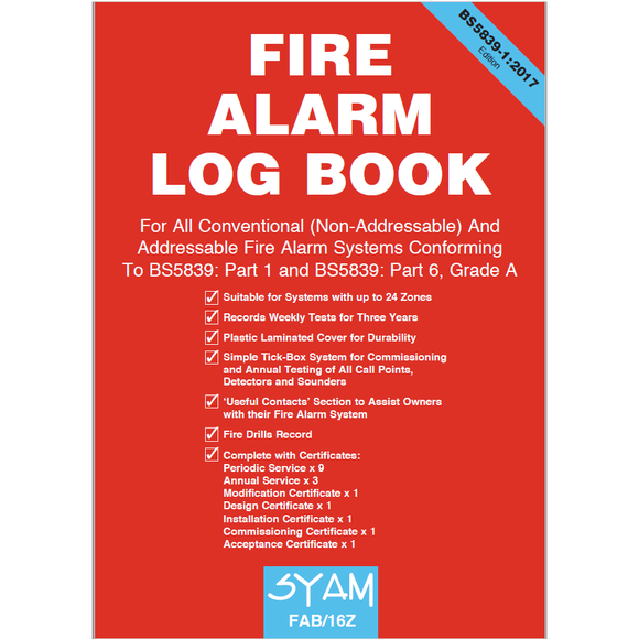 SYAM Fire Alarm Log Book