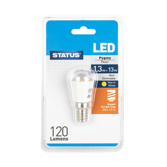Status 1.3W LED Pygmy/Fridge - E14-SES - Warm White (2700K) - (1.3SLPSESB15)