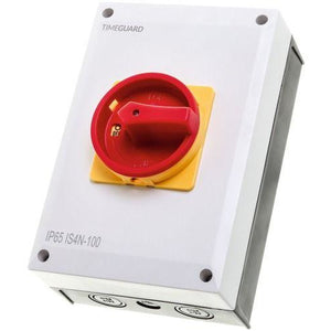 Timeguard 100A 4 Pole Weathersafe Rotary Isolator Switch