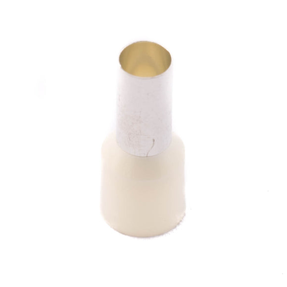 SWA 16.0mm Insulated Bootlace Ferrule (Ivory) - Pack of 100 (16-12IBLF/T)