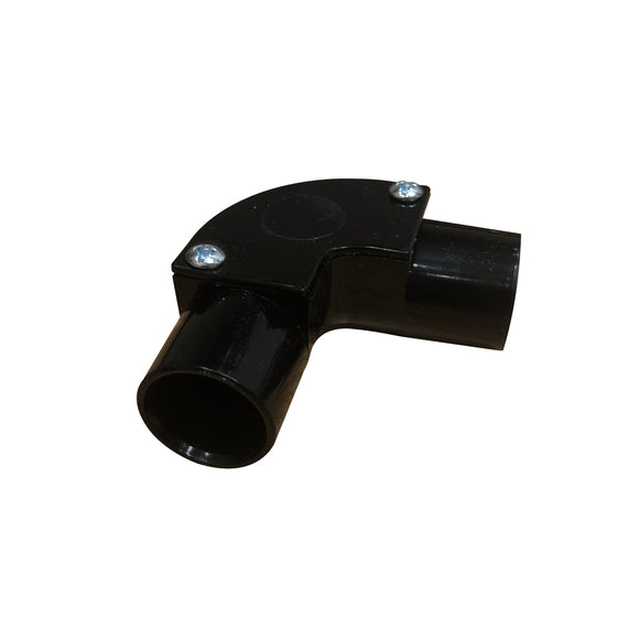20mm PVC Inspection Bend - Black (20IEB)