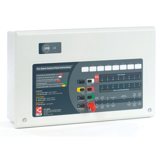 AlarmSense CFP AlarmSense 8 Zone Two-Wire Fire Alarm Panel (CFP708-2)