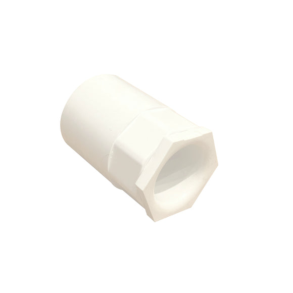 25mm PVC Conduit Female Adaptor with Male Bush - White (25FAPW)