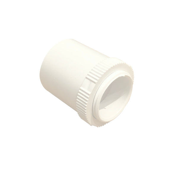25mm PVC Male Adaptor with Lock Ring - White (25MAPW)