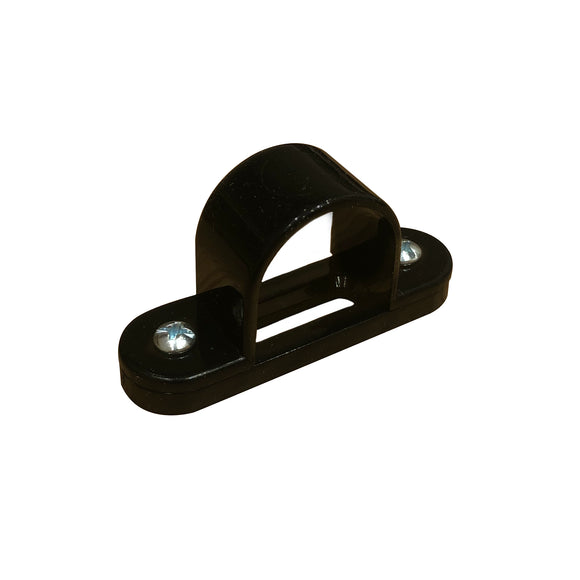 25mm PVC Spacer Bar Saddle - Black (25SBSB)