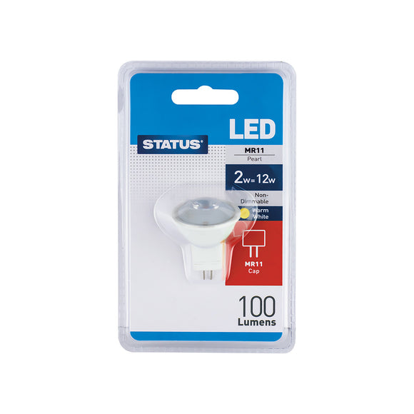 Status 2W 12V LED MR11 Reflector - Warm White (2700K) - (2SLMR11B14)