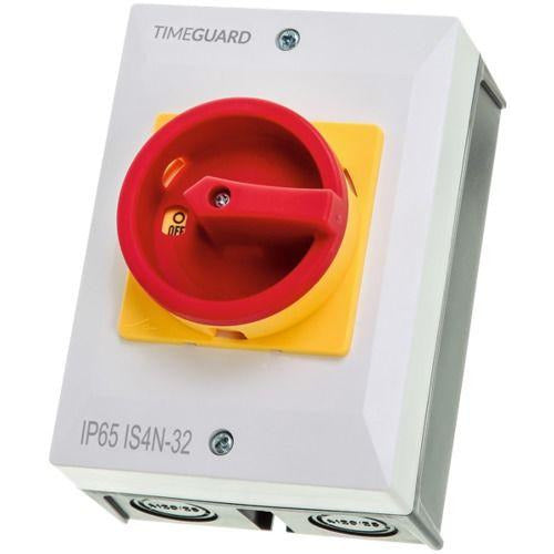 Timeguard 32A 4 Pole Weathersafe Rotary Isolator Switch