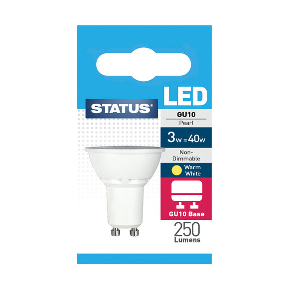 Status 3W LED GU10 Reflector - Warm White (3000K) - (3SLGU101PKB10)
