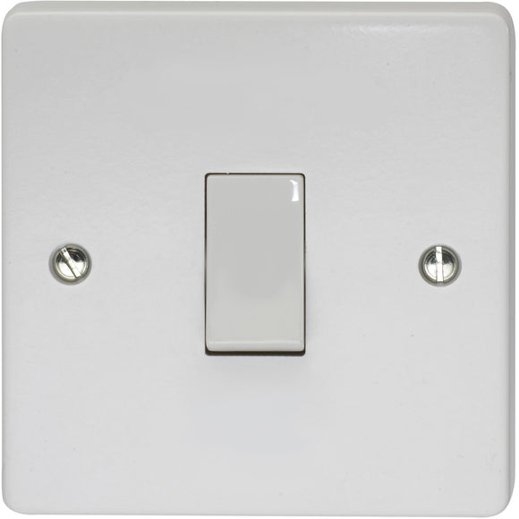 Crabtree 10A 1 Gang Retractive Switch (4096/NM) - BBEW