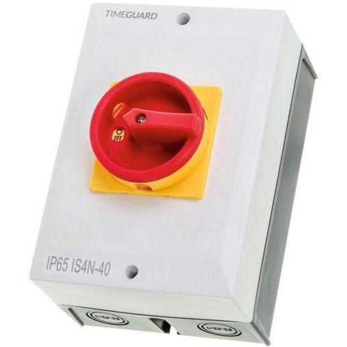 Timeguard 40A 4 Pole Weathersafe Rotary Isolator Switch