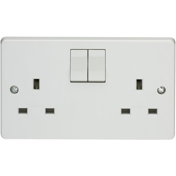 Crabtree 13A 2 Gang DP Socket (4306/D) - BBEW
