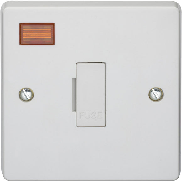 Crabtree 13A Unswitched Fused Connection Unit DP with Neon (4828/3) - BBEW