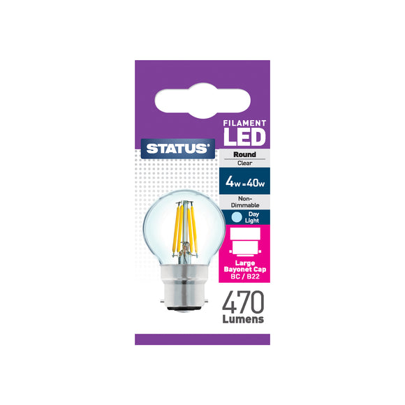 Status 4W LED Golf - B22-BC - Daylight (6500K) - (4SFRBCDL1PKB8)