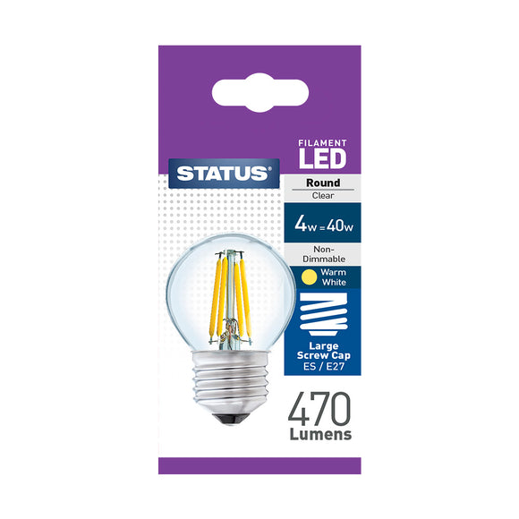 Status 4W LED Golf - E27-ES - Warm White (2700K) - (4SFRESC1PKB8)