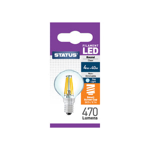 Status 4W LED Golf - E14-SES - Daylight (6500K) - (4SFRSESDL1PKB8)