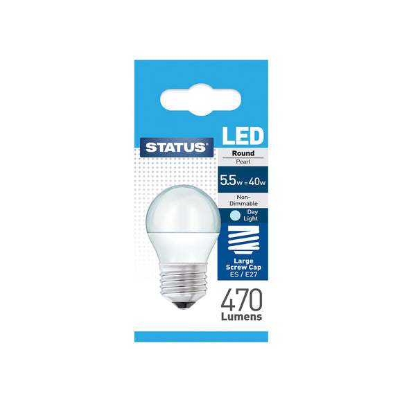 Status 5.5W LED Golf - E27-ES - Daylight (6500K) - (5.5SLRESDL1PKB8)