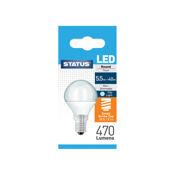 Status 5.5W LED Golf - E14-SES - Daylight (6500K) - (5.5SLRSESDL1PKB8)