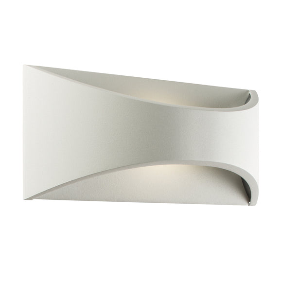 Vulcan 220mm 1lt wall IP65 6W - Matt White (64745)