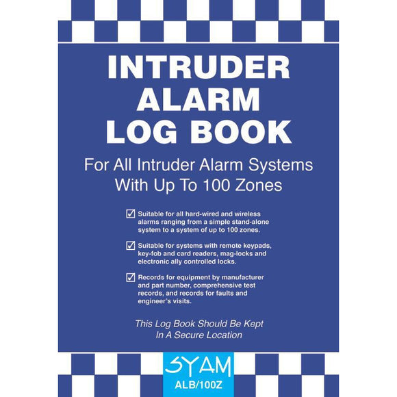 SYAM Intruder Alarm Log Book