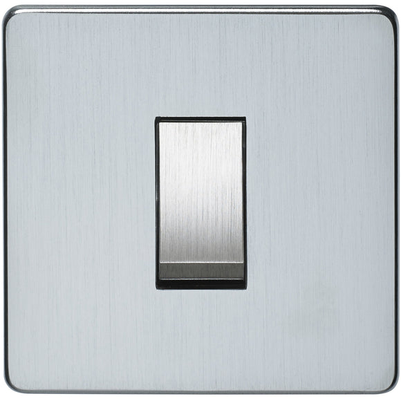 Crabtree Satin Chrome 45A Double Pole Switch (7015/SC) - BBEW