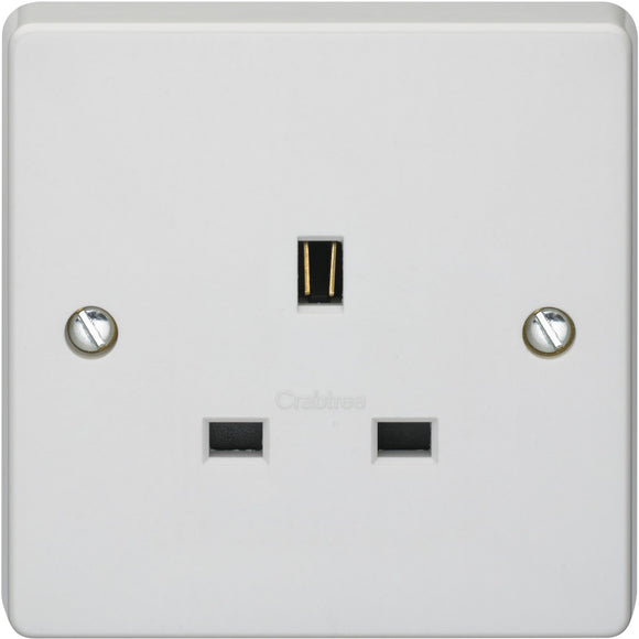 Crabtree 13A 1G Unswitched Socket Outlet (7255) - BBEW