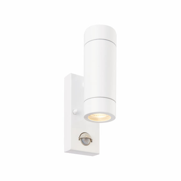 Palin PIR 2lt Wall IP44 7W - Gloss White (75440)