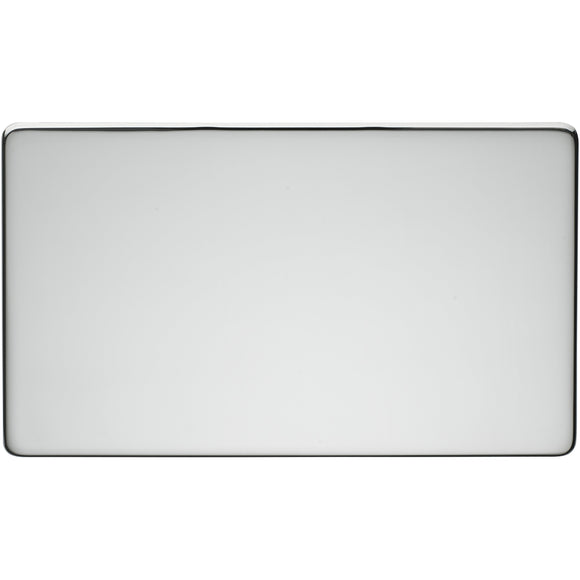Crabtree Highly Polished Chrome 2 Gang Blanking Plate (7777/HPC) - BBEW