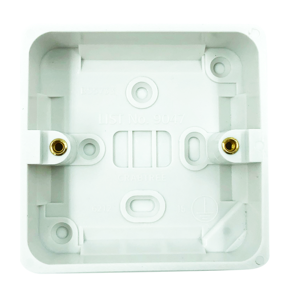 Crabtree 29mm Deep Dual Moulded Surface Box (9047) - BBEW