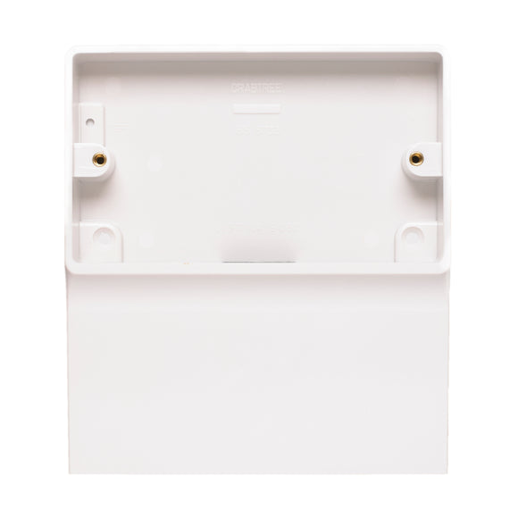 Crabtree 32mm Skirting Installation Box (9050) - BBEW