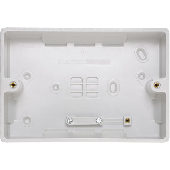 Crabtree 45mm Deep White Moulded Surface Box (9052) - BBEW