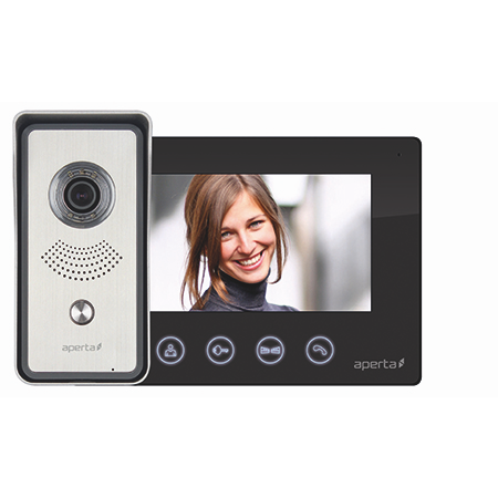 ESP Aperta Colour Video Door Entry System - Black (APKITB)
