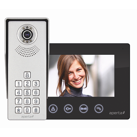 ESP Aperta Colour Video Door Entry Keypad System - Black (APKITKPBLK)