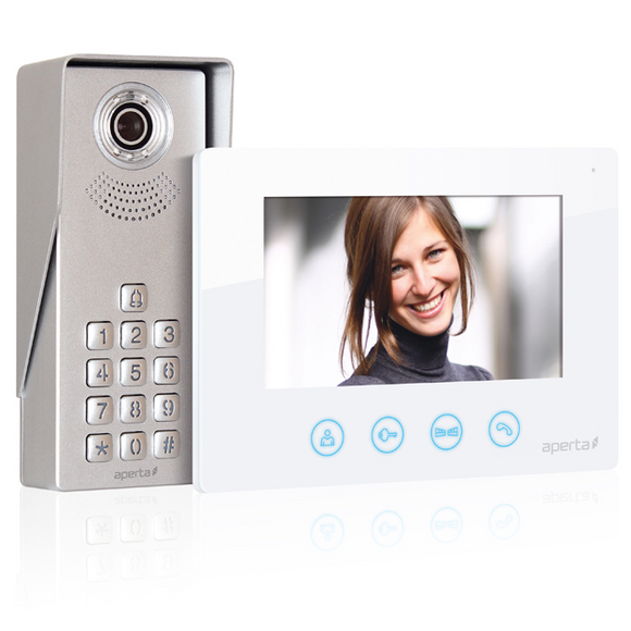 ESP Aperta Colour Video Door Entry Keypad System - White (APKITKP)