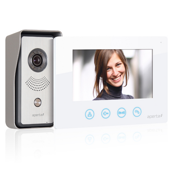 ESP Aperta Colour Video Door Entry System - White (APKIT)