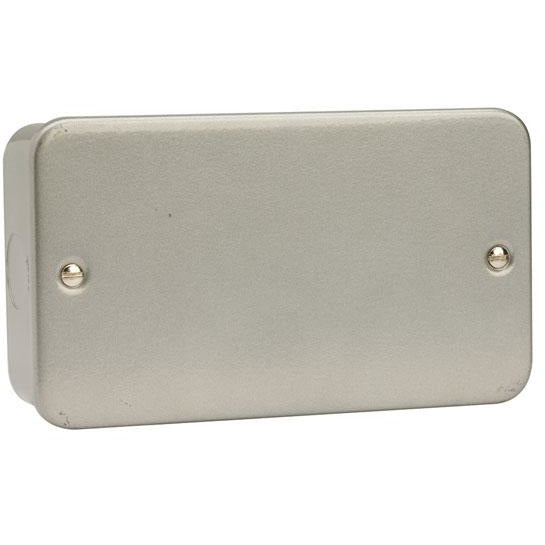 Click Metal Clad 2 Gang Blank Plate (CL061)