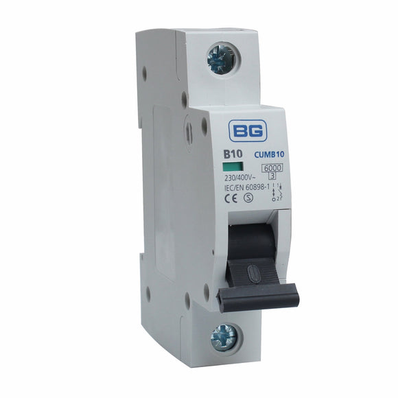 BG 10A B Type Single Pole MCB (CUMB10)