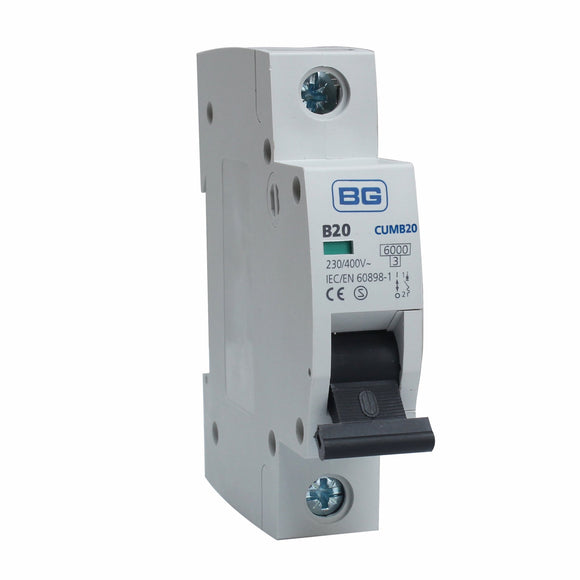 BG 20A B Type Single Pole MCB (CUMB20)