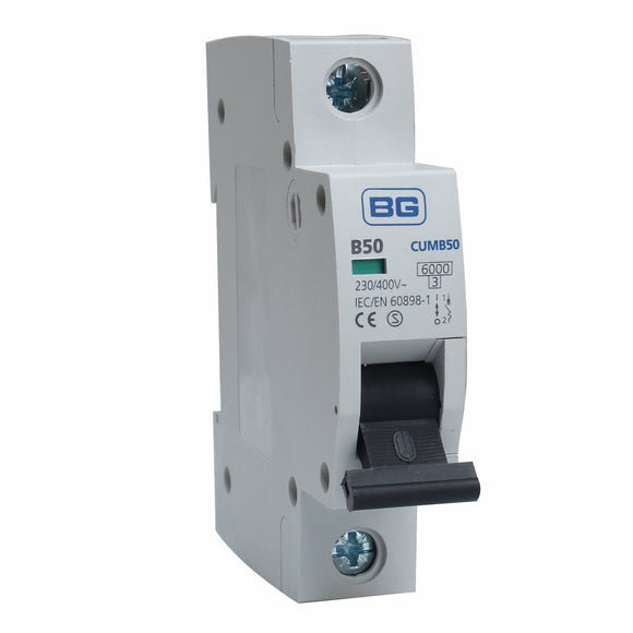 BG 50A B Type Single Pole MCB (CUMB50)