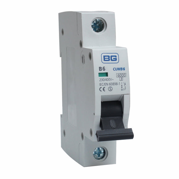 BG 6A B Type Single Pole MCB (CUMB6)