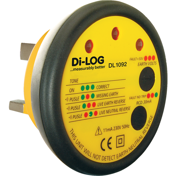 Di-Log Socket Tester With Buzzer (DL1092)
