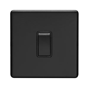 Eurolite Concealed Matt Black 10A 1 Gang 2 Way Switch (ECMB1SWB)
