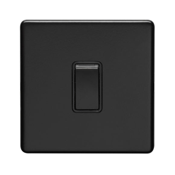 Eurolite Concealed Matt Black 10A 1 Gang Intermediate Switch (ECMBINTB)