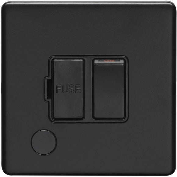 Eurolite Concealed Matt 13A Fused Switched Spur with Flex Outlet (ECMBSWFFOB)